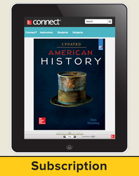 Brinkley, American History: Connecting with the Past UPDATED AP Edition © 2017, 15e, Connect® 6-year Subscription