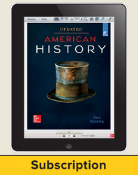 Brinkley, American History: Connecting with the Past UPDATED AP Edition © 2017, 15e, ConnectED eBook 6-year Subscription