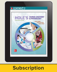 Shier, Hole's Human Anatomy and Physiology © 2016, 14e, Connect® Plus with APR, 1-year subscription