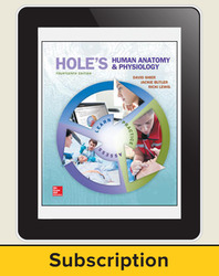 Shier, Hole's Human Anatomy and Physiology © 2016, 14e, ConnectED eBook, 1-year subscription