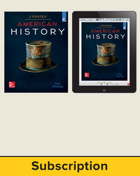 Brinkley, American History: Connecting with the Past UPDATED AP Edition © 2017, 15e, Student Bundle, 1-year subscription (Student Edition with ConnectED eBook)