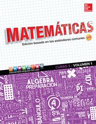 Glencoe Math, Course 3, Volume 1, Spanish Student Edition