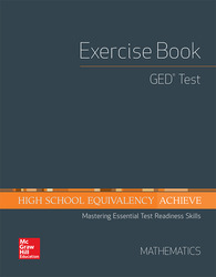 High School Equivalency Achieve, GED Exercise Book Math