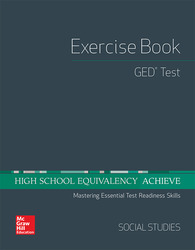 High School Equivalency Achieve, GED Exercise Book Social Studies