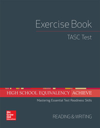 High School Equivalency Achieve, TASC Exercise Book Reading and Writing