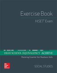 High School Equivalency Achieve, HiSET Exercise Book Social Studies