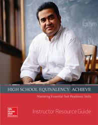 High School Equivalency Achieve Reading and Writing, Instructor Resource Guide
