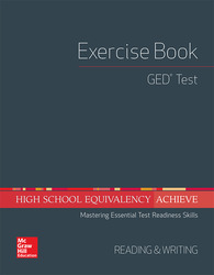 High School Equivalency Achieve, GED Exercise Book Reading and Writing