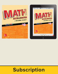 Glencoe Math Accelerated 2017, Complete Student Bundle, 1-year subscription