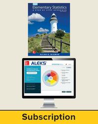 Bluman, Elementary Statistics © 2015, 9e ALEKS 360 Student Bundle, 6-year Subscription