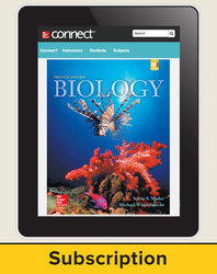 Mader, Biology © 2016, 12e (Reinforced Binding) Connect®, 1-year subscription