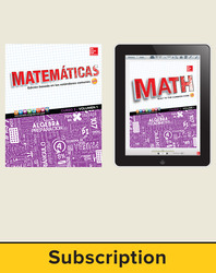 Glencoe Math Course 3, 1-year Complete Spanish Student Bundle (1 year print SE, 1 year ESE)