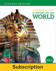 Discovering Our Past: A History of the World, Teacher Lesson Center, 6-year subscription