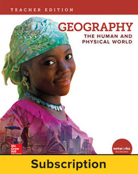 Geography: The Human and Physical World, Teacher Lesson Center, 6-year subscription