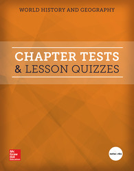 World History and Geography, Chapter Tests and Lesson Quizzes