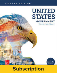 United States Government: Our Democracy, Teacher Lesson Center, 6-year subscription