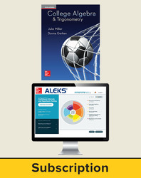 Miller, College Algebra and Trigonometry © 2017, 1e, ALEKS®360 Student Bundle (Student Edition with ALEKS360), 6-year subscription