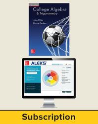 Miller, College Algebra and Trigonometry © 2017, 1e, ALEKS®360  Student Bundle (Student Edition with ALEKS®360), 40-week subscription