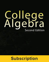 Miller, College Algebra © 2017, 2e, Student Bundle (Student Edition with ConnectED eBook), 6-year subscription