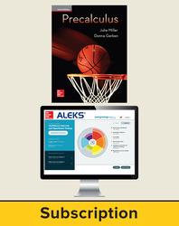 Miller, Precalculus © 2017, 1e, ALEKS®360 Student Bundle (Student Edition with ALEKS®360, 40-week subscription