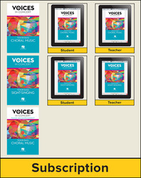 Hal Leonard Voices in Concert, Level 3 Tenor/Bass Digital Bundle, 1 Year