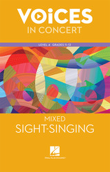 Hal Leonard Voices in Concert, Level 4 Mixed Sight-Singing Book