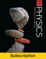 Glencoe Physics: Principles & Problems, eStudent Edition with LearnSmart, 1-year subscription