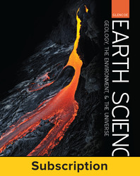 Glencoe Earth Science: GEU, eStudent Edition, 1-year subscription