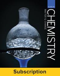 Glencoe Chemistry Matter & Change, Complete Student Bundle, 1-year subscription