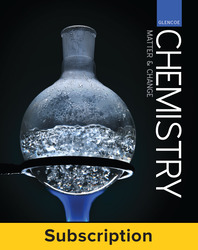 Glencoe Chemistry Matter & Change, Complete Student Bundle, 6-year subscription