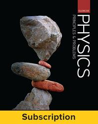 Glencoe Physics: Principles & Problems, Complete Student Bundle, 1-year subscription