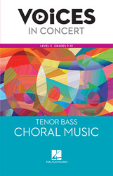 Hal Leonard Voices in Concert, Level 3 Tenor/Bass Choral Music Book