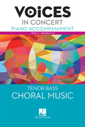 Hal Leonard Voices in Concert, Level 3 Tenor/Bass Piano Accompaniment Book