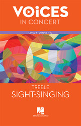 Hal Leonard Voices in Concert, Level 4 Treble Sight-Singing Book