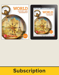 World History and Geography, Student Suite with LearnSmart Bundle, 6-year subscription