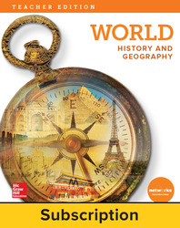World History and Geography, Teacher Suite with LearnSmart Bundle, 6-year subscription