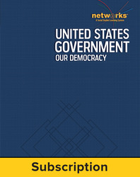 United States Government: Our Democracy, Teacher Lesson Center, 1-year subscription