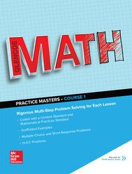 Glencoe Math, Course 1, Common Core Practice Masters Flipbook