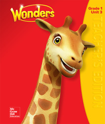 Wonders Teacher's Edition, Volume 3,  Grade 1