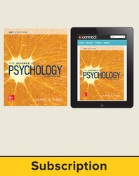 King, The Science of Psychology © 2017, 4e (AP Edition) Standard Student Bundle with APR (Student Edition with Connect®), 1-year subscription