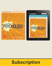 King, The Science of Psychology © 2017, 4e (AP Edition) Student Bundle (Student Edition with ConnectED eBook), 1-year subscription