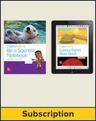 Inspire Science 2.0 Grade K, Basic Student Bundle with Print Be a Scientist Notebook and Online Student Learning Center, 7 Year Subscription