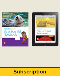Inspire Science 2.0 Grade K, Basic Student Bundle with Print Be a Scientist Notebook and Online Student Learning Center, 1 Year Subscription