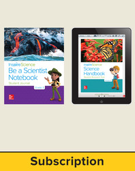Inspire Science 2.0 Grade 3, Basic Student Bundle with Print Be a Scientist Notebook and Online Student Learning Center, 5 Year Subscription
