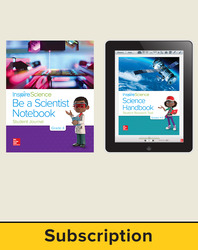 Inspire Science 2.0 Grade 4, Basic Student Bundle with Print Be a Scientist Notebook and Online Student Learning Center, 5 Year Subscription