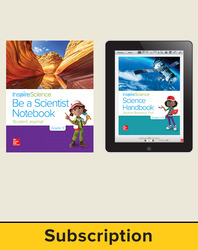 Inspire Science 2.0 Grade 5, Basic Student Bundle with Print Be a Scientist Notebook and Online Student Learning Center, 7 Year Subscription