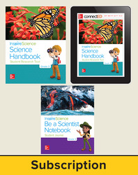 Inspire Science 2.0 Grade 3, Deluxe Student Bundle with Print Be a Scientist Notebook, Print Science Handbook and Online Student Learning Center, 3 Year Subscription