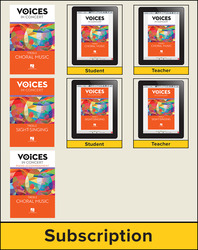 Hal Leonard Voices in Concert, Level 4 Treble Digital Bundle, 1 Year