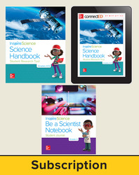 Inspire Science 2.0 Grade 4, Deluxe Student Bundle with Print Be a Scientist Notebook, Print Science Handbook and Online Student Learning Center, 1 Year Subscription
