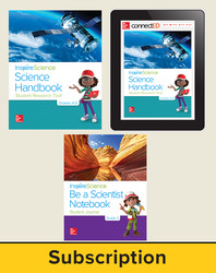 Inspire Science 2.0 Grade 5, Deluxe Student Bundle with Print Be a Scientist Notebook, Print Science Handbook and Online Student Learning Center, 3 Year Subscription